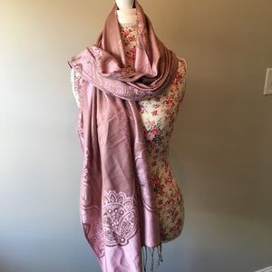 Accessories - Reversible pink/brown scarf NWT